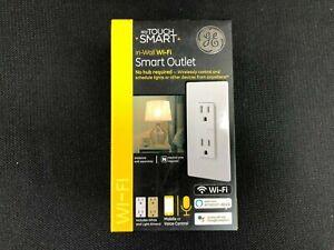 40795 GE Wi-Fi Smart 40795 White 15-Amp Duplex Smart Outlet 1137930 WI-FI