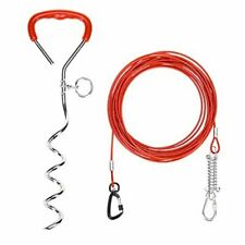 New listing Dog Stake and Cable - Dog Tie Out Cable for Yard - 125lbs Heavy Duty