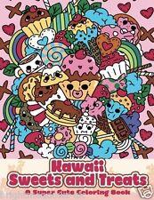 Japanese Kawaii Baking Adult Colouring Book Manga Anime Cute Fun Cakes Sweet