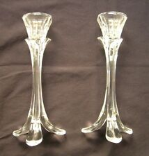 "8.5"" Candlesticks Holders Clear Glass Set of 2"