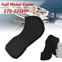 Full Outboard Boat Motor Engine Cover Dust Rain Protection Black - 175hp -  ,'