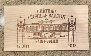 2018 Chateau Leoville Barton Bordeaux Wood Wine Panel Side
