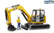 Bruder 02466 Cat Caterpillar 1:16 scale Mini Excavator with Worker