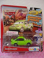2012/2013 Pixar CARS 2 Green NICK STICKERS∞Radiator Springs Classic∞Toys R Us