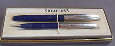 Sheaffer Blue TD  Dolphin Nib Fountain Pen Set---working-medium point