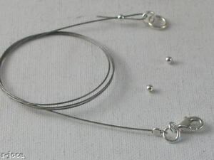 1 KIT COMPLETO PER MONTAGGIO DELLE COLLANE E BRACCIALI componenti in argento