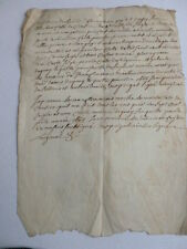 RARE MANUSCRIT 1662 LATIN OCCITAN ou VIEUX FRANCAIS
