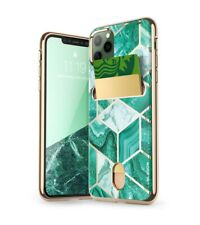 """iPhone 11 Pro 5.8 """" Case, i-Blason Cosmo Wallet Cover Card Holder Case - Green"""