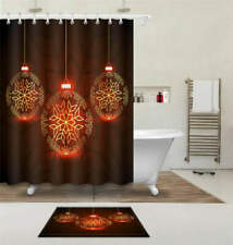 Great Lantern Waterproof Bathroom Polyester Shower Curtain Liner Water Resistant