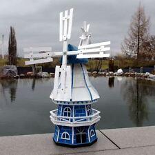 GARTENWINDMÜHLE OLIVIA 60 cm blau weiß Garten Deko Mühle Windmühlen Dekoration