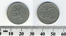 Czechoslovakia 1979 - 50 Haleru Copper-Nickel Coin - Czech lion socialist shield