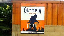 Olympia retro beer Believe Bigfoot Yeti Sasquatch banner poster wall sign