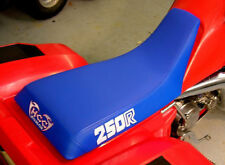 HONDA ATC 250r seat cover blue ATC in white 83-84 1983 1984 years atc 250r logo