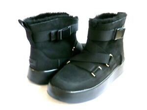 UGG  CLASSIC BOOM BUCKLE WOMEN ANKLE BOOTS SUEDE BLACK US 9 /UK 7 /EU 40