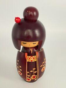 Kimmi Vintage Japanese Kokeshi Wooden Carved Doll Genuine Collectable Folk Art