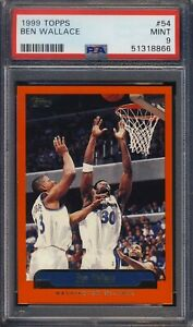 1999 Topps #54 Ben Wallace PSA 9 MINT Ships From CAN & USA