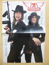 "Joe Perry ""aerosmith"" autógrafo signed 28x41 cm póster dobladas"