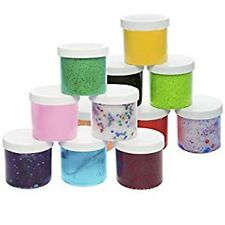4 Slime Storage Jars 12 oz (4 Pack) Clear Containers For All Your Glue Putty