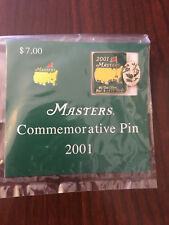 NEW 2001 Masters Tournament Commemorative Pin Golf Tiger Woods Augusta National