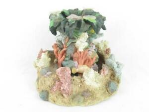 Table Top Ocean Themed Fountain Tested Works Fish Reef Coral Shells Star Fish