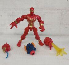 """Marvel Super Hero Mashers Electronic IRON SPIDER 6"""" Figure Light-Up Web Blast"""