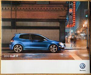 Mint 2013 VW Golf R Sales Brochure Like 2012 2014 Catalog Volkswagen GTI R32