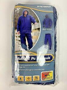 Stearns Rainsuit Adult Medium Large Rain Gear Durable Waterproof Ventaliated New