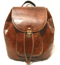 $249 Patricia Nash Signature Map Casape Leather Backpack in Riot Rust Nwt