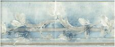 VINE PATTERNS SKY BLUE BACKROUND GLASS VINES Wallpaper bordeR Wall decor