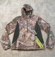 $140 Womens Under Armour 1/2 Zip Camo/Pink Scent Control X Storm1 Hoodie! L, XL!