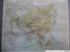Politische Ãœbersichtskarte von Asien, BH 13., 1882