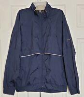 Nike Golf Clima Fit Vented Windbreaker Full Zip Jacket Front Back Pocket Size XL