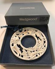 Wedgwood 1992 White Jasper 2nd Annual Noel Wreath Ornament w/ Original Box