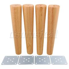 4 x Wood Color Tapered Furniture Leg for Tea Table Cabinet 30cm Height