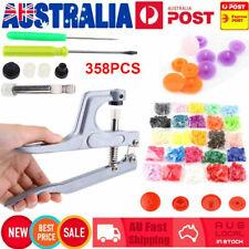 350set DIY Craft Kam Snaps T5 Snap Starter Plastic Poppers Fasteners Pliers AU