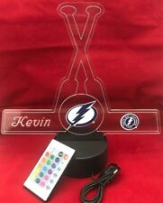 Tampa Bay Lightning NHL Hockey Light Up Lamp LED With Remote, Personalized Free