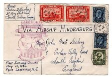 Hindenburg, Lakehurst to Frankfurt, FFC, 1936 franked with CANADIAN Stamps  👀