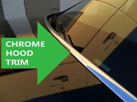 Chrome Hood Trim Molding Accent Kit for gmc models 2002-2018