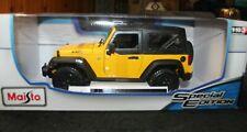 2014 Jeep Wrangler (Yellow)  Maisto 1:18 Die Cast - NIB NRFB