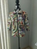 Womens Drapers and Damons Multi-Color Artsy Jacket Size M