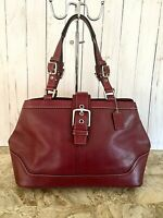 Coach Whiskey Hampton Buckle Handbag #12602 Leather Satchel
