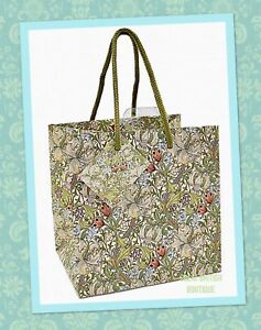 "William Morris ""Golden Lily"" Gift Bag - Small 15.5 X 15.5cm"