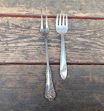 2 Antique Forks - Wm Rogers Pickle Fork &Tudor Plate Oneida Community Child Fork