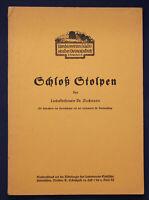 Bachmann Schloß Stolpen um 1930 Sonderdruck Sachsen Saxonica Ortskunde sf