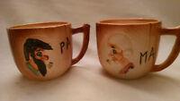 Vintage Ma and Pa Hillbilly Ceramic Mugs