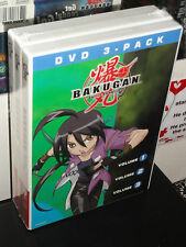 Bakugan Volume 1, 2, 3 (3-DVDs) Cartoon Network! 3-Disc Set! BRAND NEW!