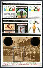 NICARAGUA 1975 Olympiade Olympics Montreal 1976 de Coubertin Gold Block 88-90 **