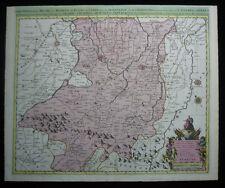 1700 Original Sanson Mortier Large Map of Northern Italy Bologna Modena Reggio