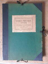 E-A SEGUY PETITS MEUBLES ANCIENS 74 ILLUS. SUR 37 PLANCHES 1920 GUERIDONS TABLES