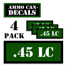 ".45 LC Ammo Can 4x Labels Ammunition Case 3""x1.15"" stickers decals 4 pack GR"